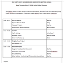 May 17 ONDNA Board Meeting Agenda