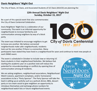 Neighbors' Night Out Party at the Hattie Weber, 4-6pm, Sunday, October 15th